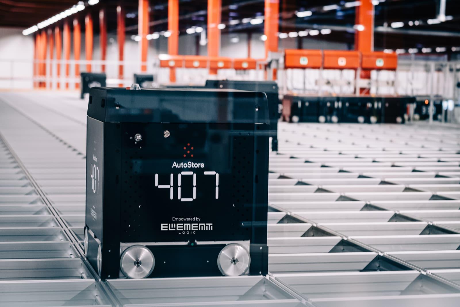 AutoStore Black line B1 warehouse robot