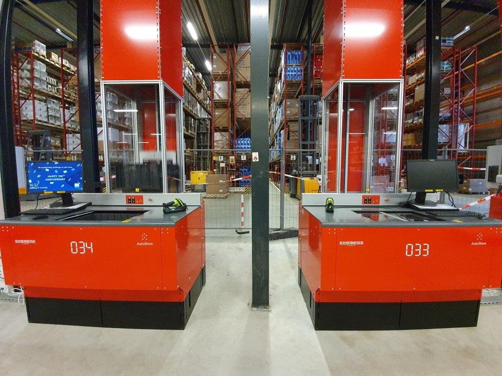 Autostore werkstations bij Solar